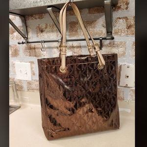Michael Kors large mirrored tote purse